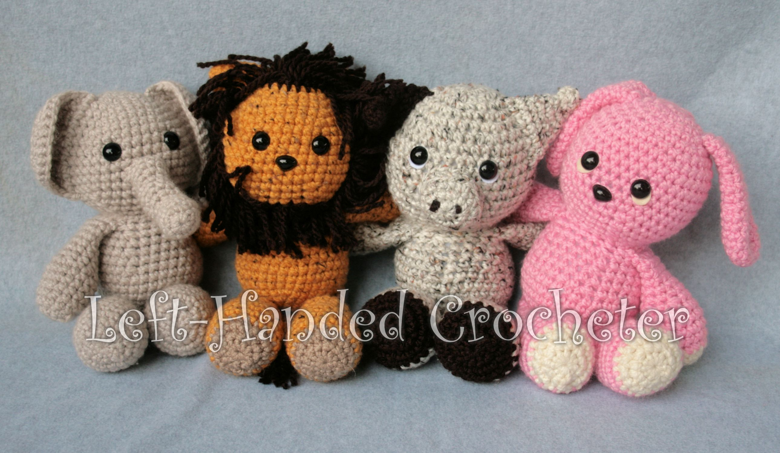 Lion Amigurumi To Go : Lions and elephant and pigsu oh my