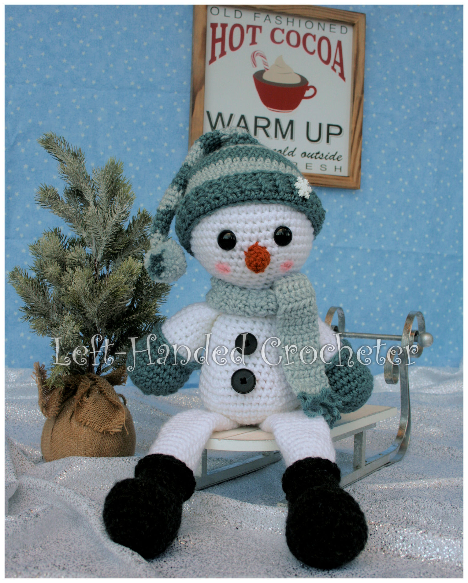 Snowman Draft Stopper And Shelf Sitter