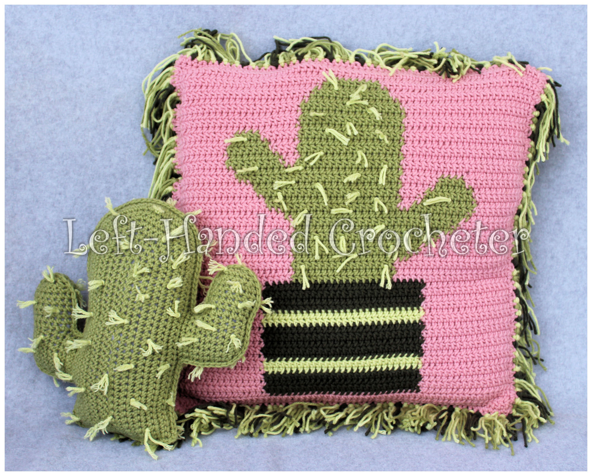 Crochet Cactus Pillow |