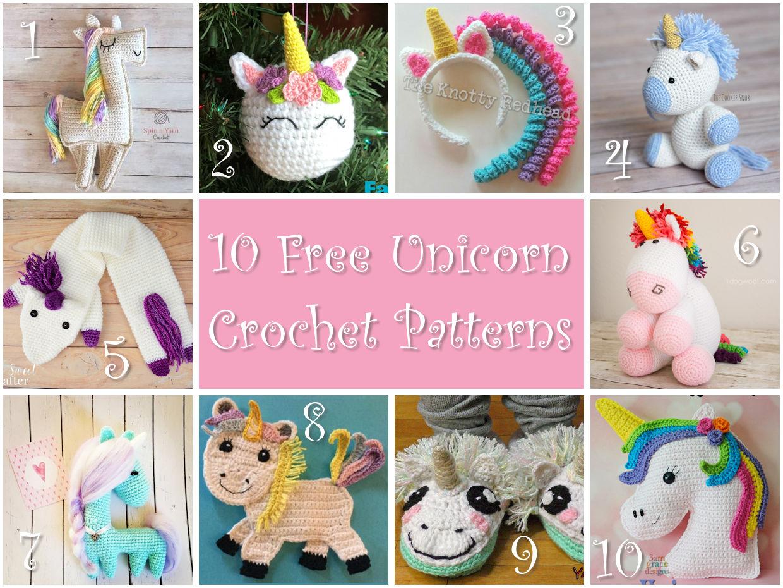 Free Amigurumi Unicorn Pattern : Crochet unicorn roundup