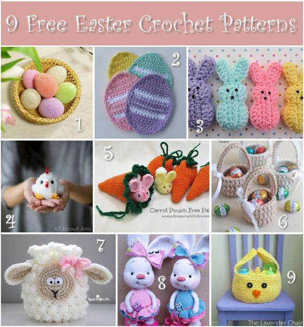 9 Free Easter Crochet Patterns
