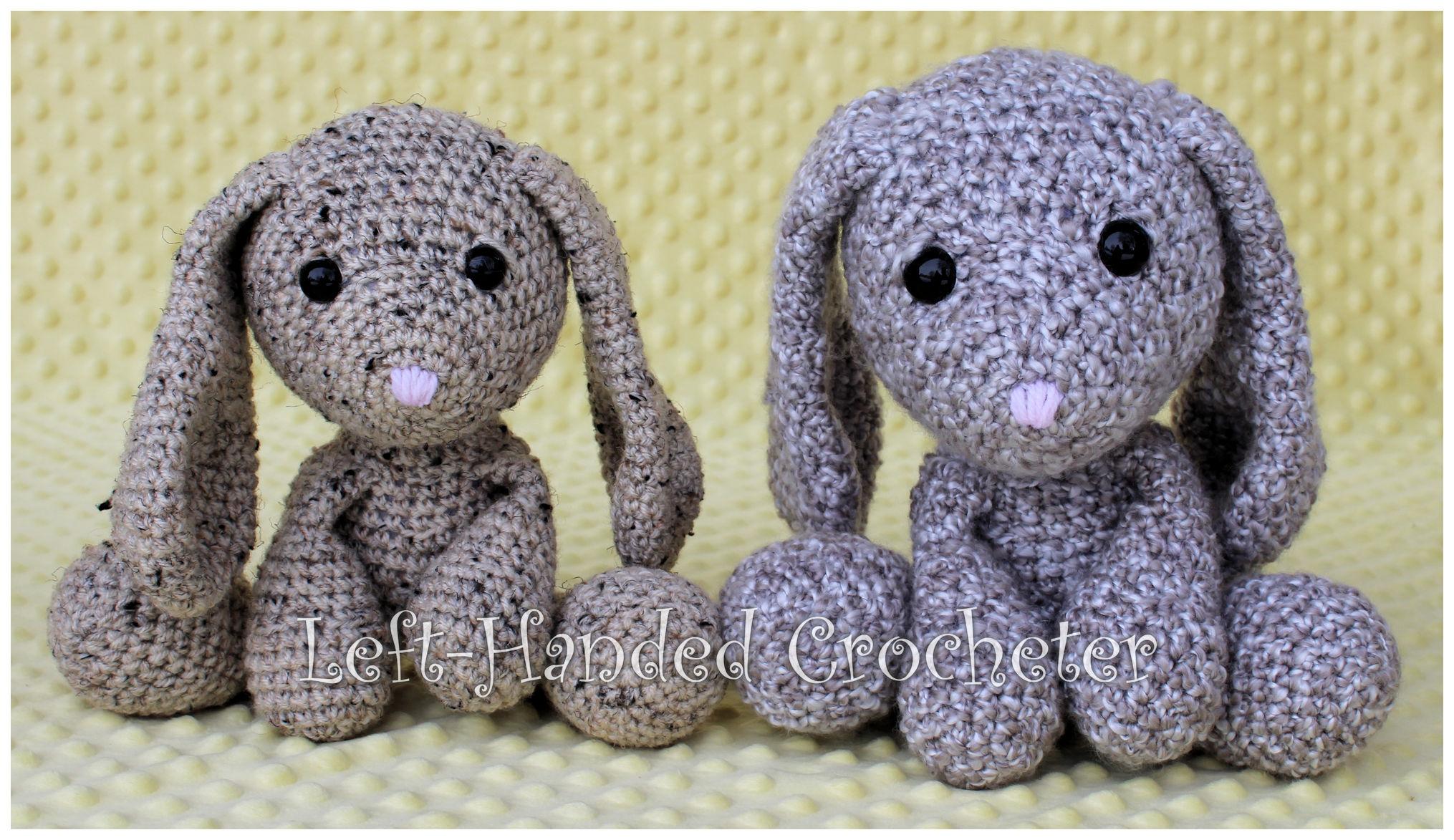 Pretty Bunny with floppy ears - Crochet Pattern - Amigurumi Today | 1173x2030