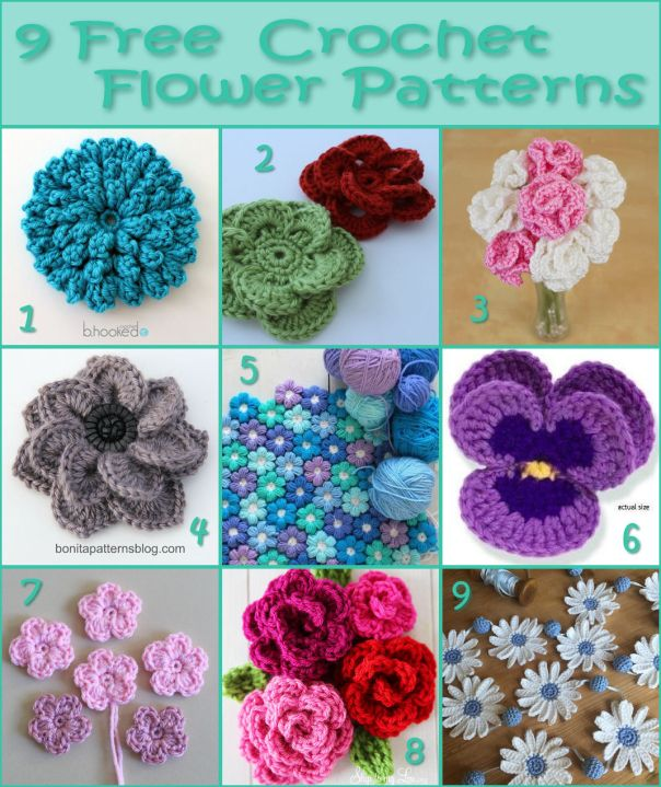 40 Free Crochet Flower Patterns Inspiration Crochet Flowers Patterns