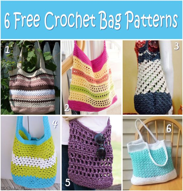6 Free Crochet Bag Patterns