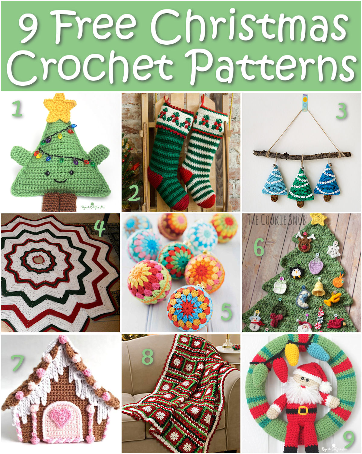 Free Christmas Crochet Patterns.9 Free Christmas Crochet Patterns